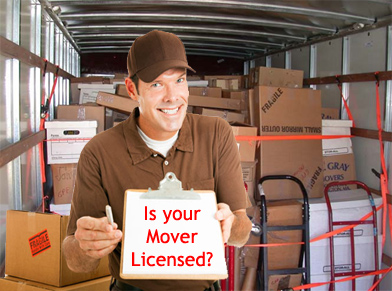Licensed movers