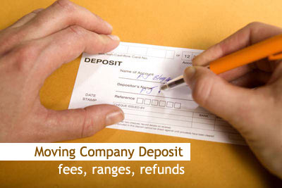 Moving company deposit
