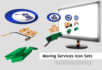 Free moving services icons