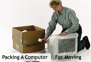Packing a computer for moving