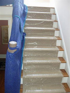 Protect carpets when moving