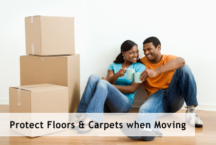 Protect floors and carpets when moving
