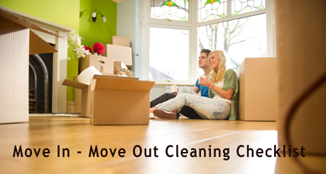 Move in - move out cleaning checklist