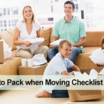 What to pack when moving checklist