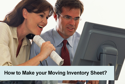 Moving inventory sheet