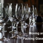 Pack glasses for moving