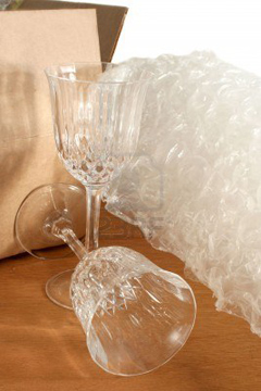 Apartment lease - packing glassware