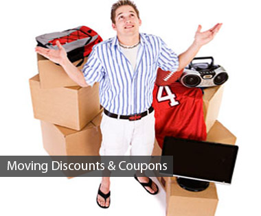 Moving discount specials, coupons and deals