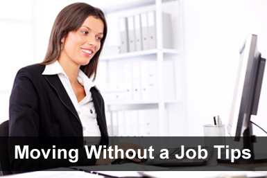 Moving without a job tips