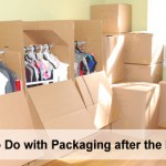 Disposing of packing boxes