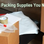 Moving home packing materials