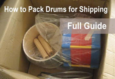 Packing drums for shipping