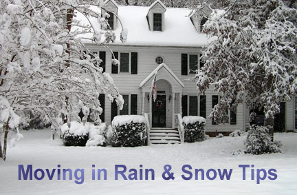 Moving in rain & snow tips