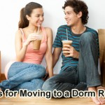 Moving into a dorm room