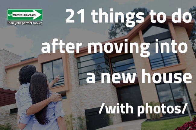 21 Things To Do After Moving Into A New House Visual