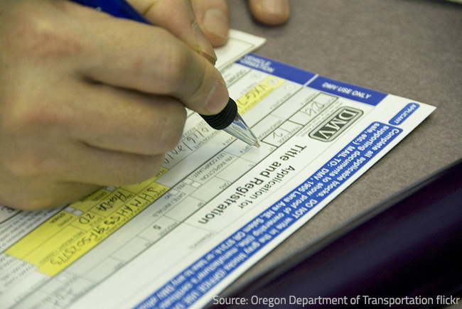 Ask the DMV officials how you can transfer your driver's license to your current state.