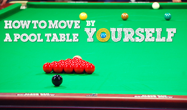 How To Move A Pool Table By Yourself Complete StepByStep Guide - Billiard table and accessories