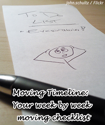 Moving Timeline: Your Week By Week Moving Checklist