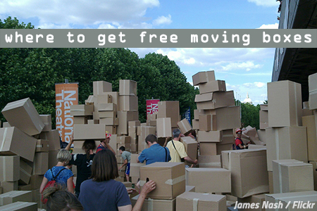 Where to by moving boxes near me