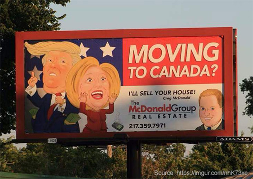 farewell president trump how to move to canada