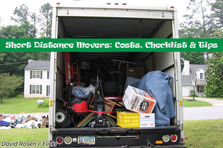 Short Distance Movers Costs Checklist Tips